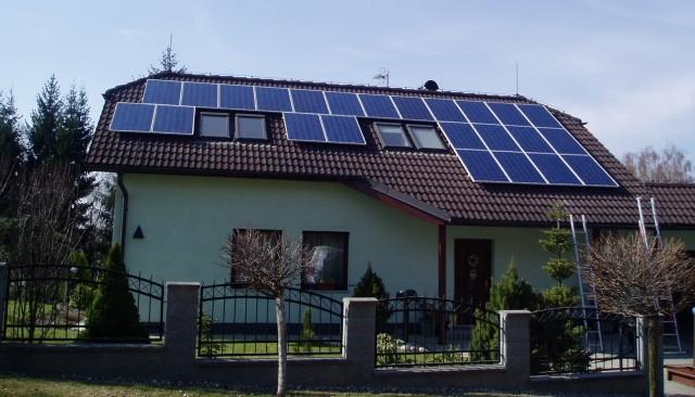 Vizovice - fotovoltaické panely